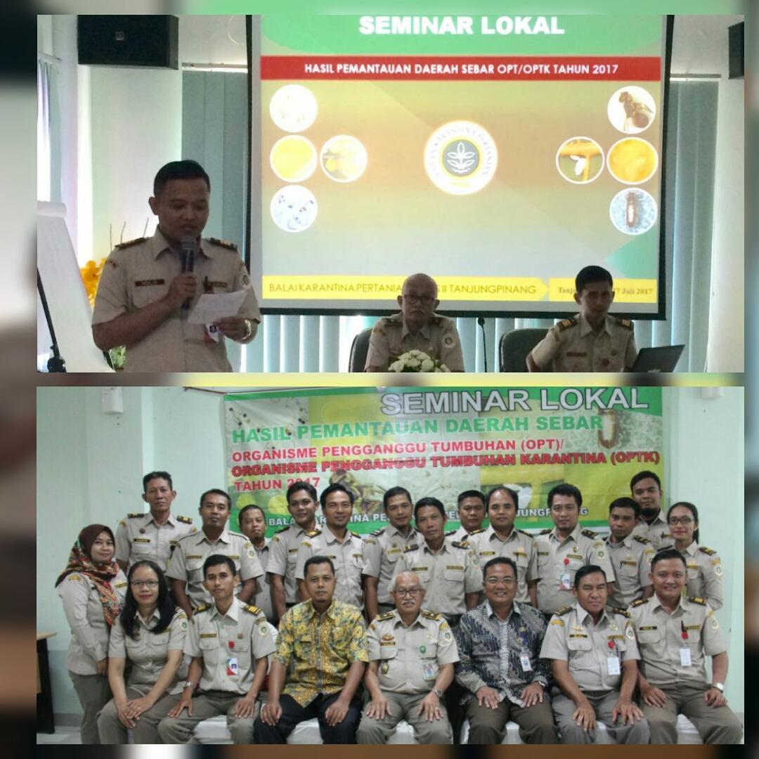 Karantina Pertanian Tanjungpinang Gelar Seminar Lokal Pemantauan Daerah Sebar OPTK Tahun 2017
